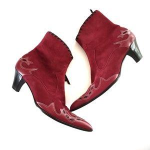 Antonio Melani Red Western Booties cowgirl 6